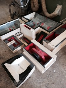 Completed core boxes for pump body