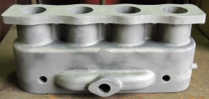 Cylinder block ready for machining and further analysis