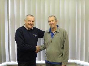 David Harriman (MD) with Richard Long.